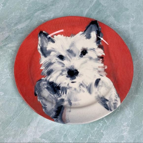 Sally Muir A Dog a Day Westie plate Anthropologie